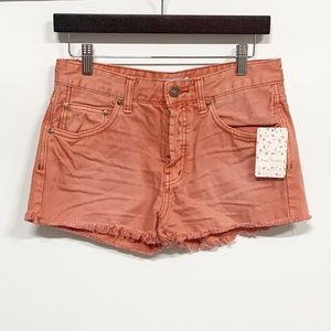 Free People Poppy Highwaisted Buttonfly Shorts NWT